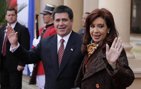 Cristina se reunió con el presidente de Paraguay