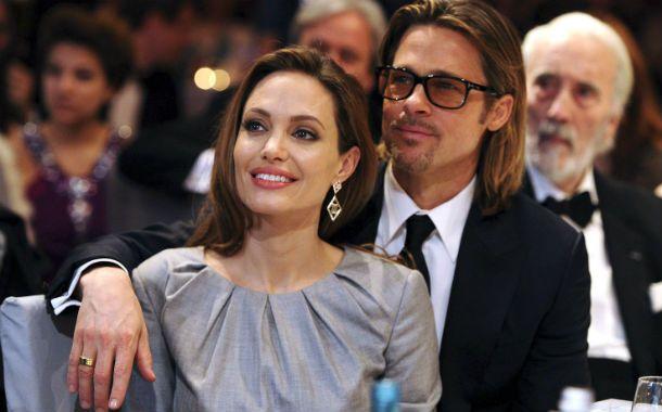 Con Brad Pitt. Angelina Jolie