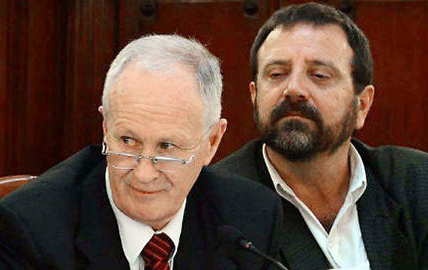 Bajo amenazas. El ministro Raúl Lamberto y el secretario Angel Ruani están en la mira de la banda de Los Monos.