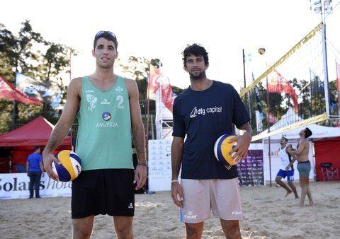 Argentinos. Nico Capogrosso y Julián Azaad entrenaron ayer en el último turno. Vienen de ganar la etapa en Perú.