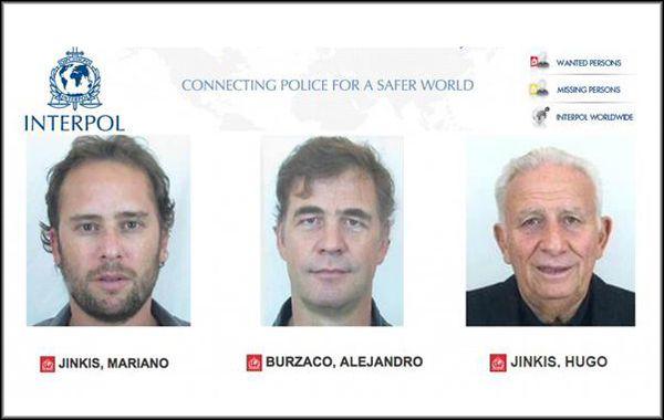 Los tres argentinos buscados por la agencia internacional.