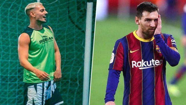 Emocionado. Estoy hablando con Messi. No puede ser tan humilde