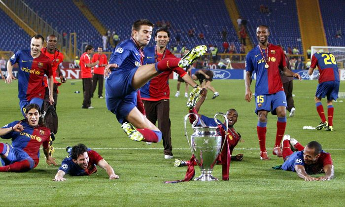 Con un gol de cabeza de Messi, Barça es rey de Europa y completó el triplete
