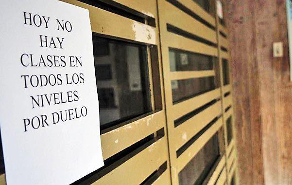 Clausura. Por el suceso las autoridades educativas suspendieron las clases.