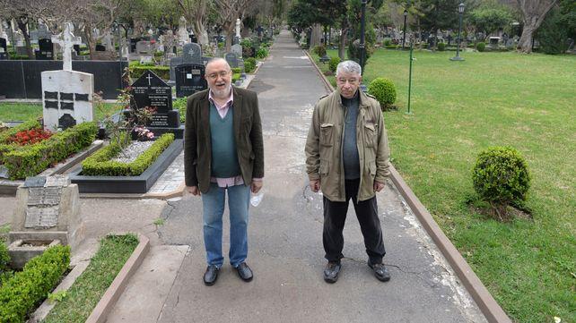 El agrónomo Juan Blotta y el historiador Ernesto Ciunne
