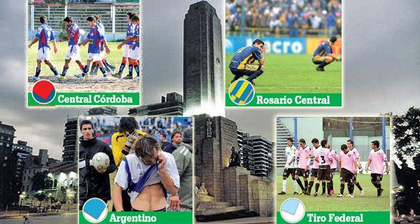 Crisis del fútbol rosarino: cuatro clubes descendieron en los últimos 414 días