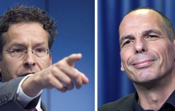 Choque. El holandés Dijsselbloem y el griego Varoufakis quedaron definitivamente en veredas opuestas.