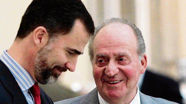 Otra época. Felipe y su padre en 2011