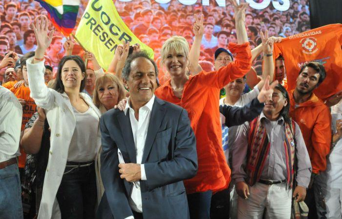 Cientos de simpatizantes participaron del acto en Mar del Plata. (Foto: Télam)