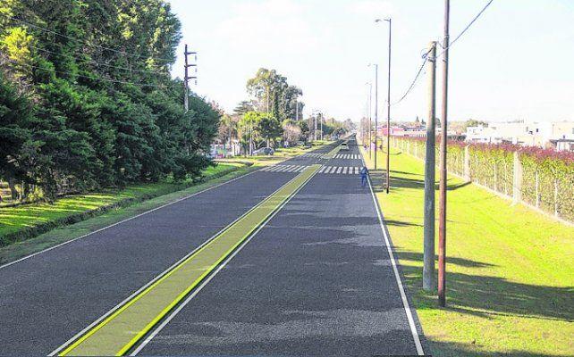 Doble traza. El camino tendrá dos carriles y un cantero central.