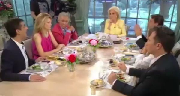 Mirtha, Freyre y Feinmann en una mesa que se sacó chispas