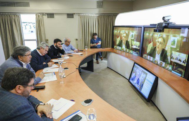 Alberto Fernández se reúne con los gobernadores para extender la cuarentena al 10 de mayo
