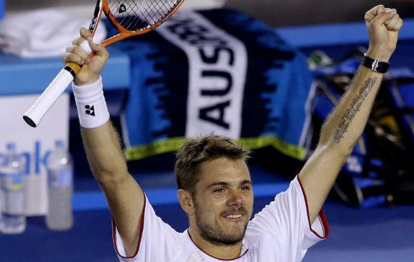 Merecido. Wawrinka celebra por la victoria  que consiguió contra Berdych en cuatro sets.