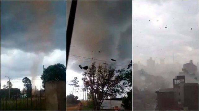 Un tornado provocó voladuras de techos y caída de árboles en Misiones