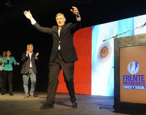 El gran elector. Binner ganó en la provincia con más del 40 por ciento de los votos del electorado. (Foto: S. Salinas)