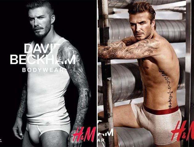 Uno de los que más veces ha posado en ropa interior es el conocido David Beckham.