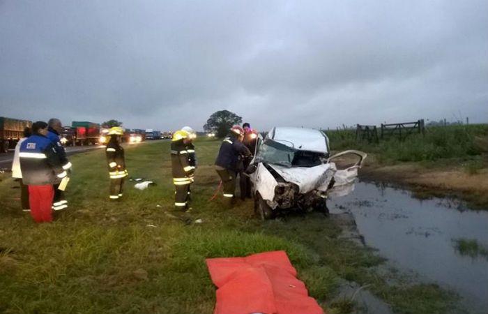 El choque frontal ocurrió en el kilómetro 606 de la ruta nacional N° 33.