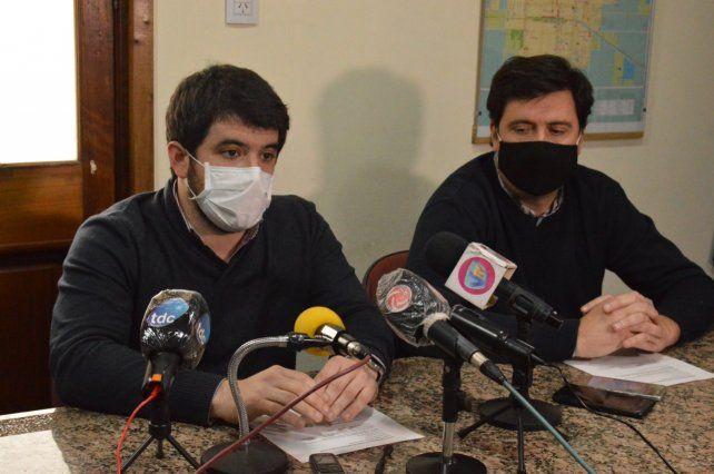 El intendente radical Leonel Chiarella y el Jefe de Gabinete