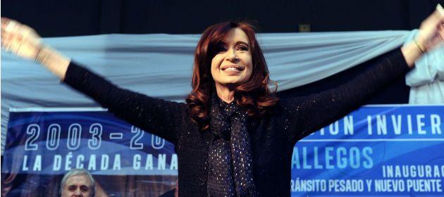 De local. La presidenta fue ovacionada en Santa Cruz