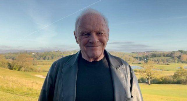 Hopkins agradeció por video y desde Gales el galardón de la Academia.