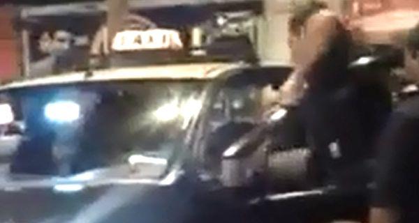 El video muestra la agresión que sufrió el chofer el domingo por la noche.