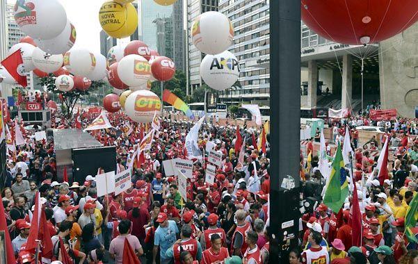 La más grande. San Pablo fue escenario de la mayor concentración de opositores a la presidenta Rousseff.