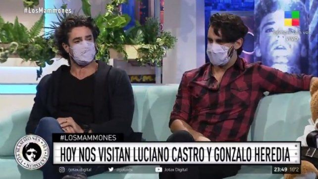 Luciano Castro y Gonzalo Heredia este martes en Los Mammones.