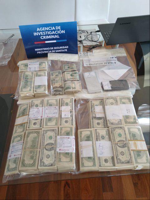 En uno de los allanamientos de ayer se hallaron 500 mil dólares en el departamento del empresario Roberto Dutra.