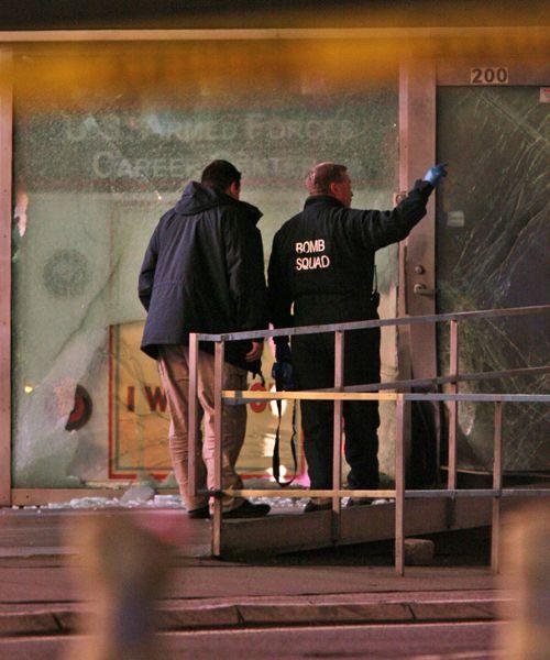Una explosión en un centro militar de Time Square causó pánico en Nueva York