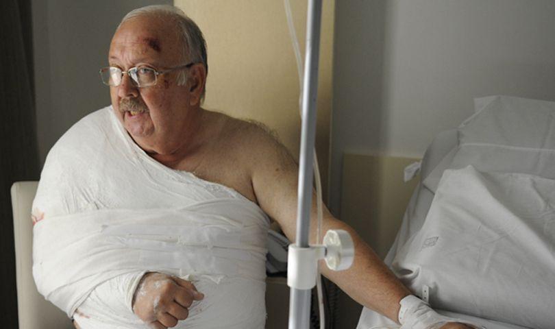 Oscar González fue herido en el brazo el domingo en el Parque Oeste. (Foto: H. Rio)