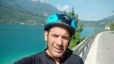 Silio se sacó una Selfie en Francia.