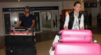 La pareja que se conoció en la filmación de El hilo rojo pasó unos días en Miami.
