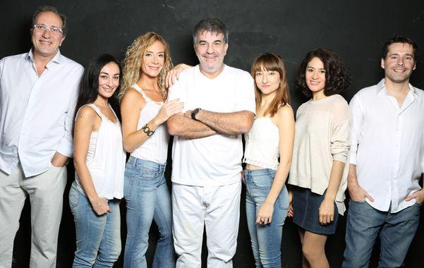 equipo. Miguel Angel Rodríguez (centro) se sumó al elenco de la puesta en escena que comenzó su tercera gira.