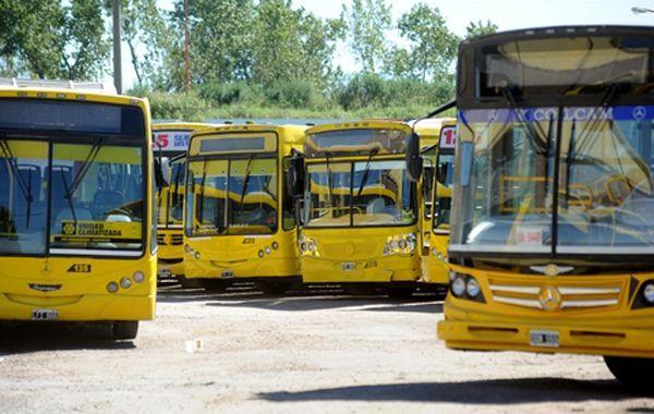Los coches de Rosario Bus volvieron a tomar servicio tras la medida de fuerza.