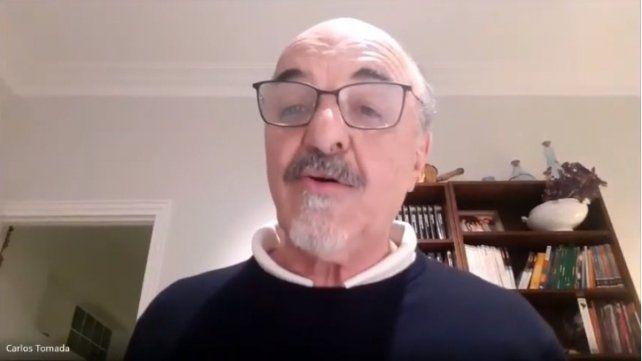 Carlos Tomada participó del encuentro virtual.