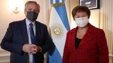 El presidente Alberto Fernández se reunió por primera vez con la titular del FMI, Kristalina Georgieva.