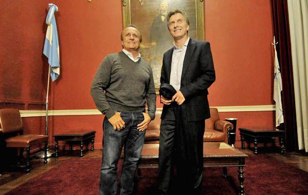 Yo tengo fe. Mauricio Macri confía en que Miguel Del Sel repita la performance electoral de las elecciones de 2011. (Foto: M. Bustamante)