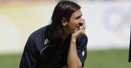 Messi estuvo en un partido benéfico en Chile, pero no pudo jugar