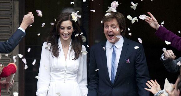 El ex Beatle Paul McCartney se casó con una empresaria norteamericana