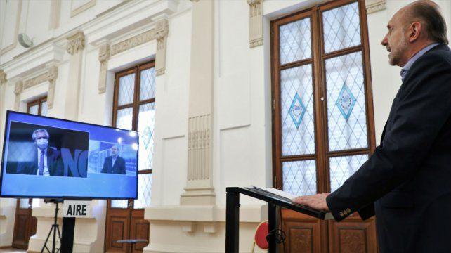 Antes de llegar a Rosario, Fernández inauguró la UTI de un Hospital de Villa Constitución