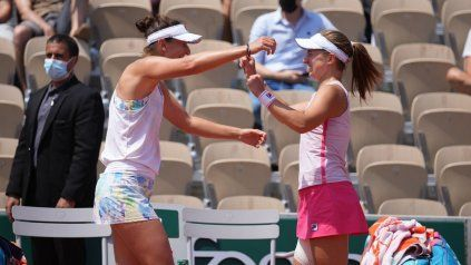 Begu y Podoroska juegan su tercer torneo juntas y la dupla crece día a día. La rumana habla español y eso a la rosarina le sienta bien.