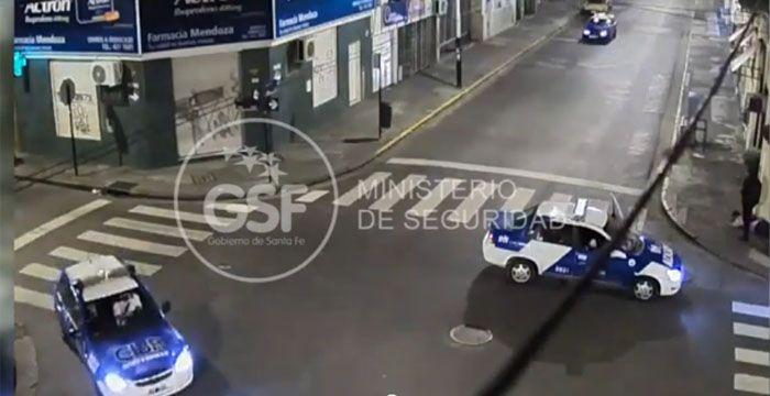 Una cámara del 911 registró el arresto de un joven cuando robaba en un bar del centro