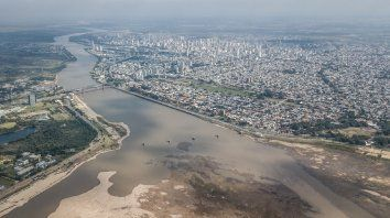 La laguna Setúbal en 2020, con niveles de bajante históricos podría repetirse en Santa Fe por pocas lluvias en el río Paraná.