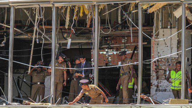 Destrozos. El segundo piso del hotel Shangri-La