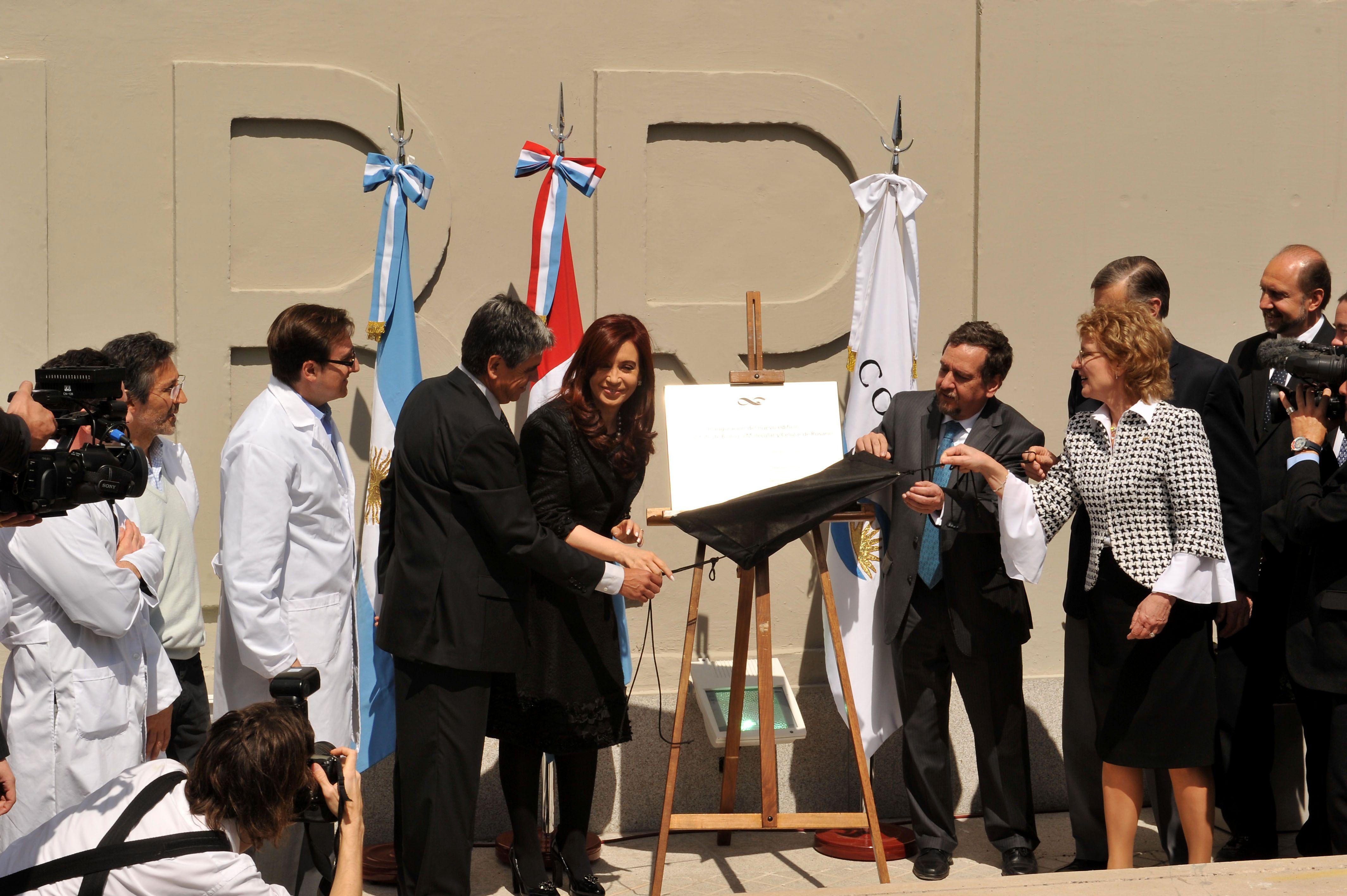 Cristina durante la inauguración del IBR en septiembre de 2011. (Foto archivo: Celina M. Lovera).