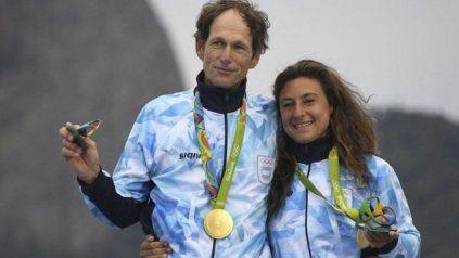 Santiago Lange y la rosarina Cecilia Carranza fueron oro olímpico en Río de Janeiro.
