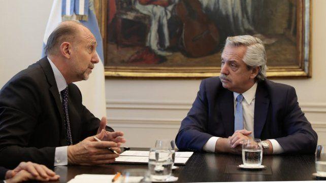 """Conversación. Perotti le presentó al presidente su """"plan superador"""" para evitar la expropiación de Vicentin."""