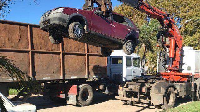 Se compactaron 71 automóviles.