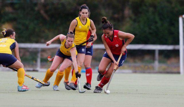 En acción. Virginia jugando en Concepción