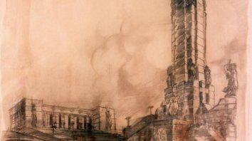 Los bocetos de Ángel Guido: el Monumento antes de nacer